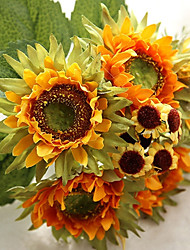 6 Branch Silk Sunflowers Wild Fruit Tie-In Bouquet Artificial Flowers