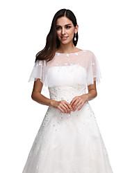 Stole da donna Mantelline Tulle Matrimonio Da sera Con perline