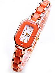 Women's Fashion Watch Bracelet Watch Simulated Diamond Watch Quartz Alloy Band Charm Casual White Pink