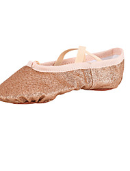 Non Customizable Kids' Dance Shoes Fabric Fabric Ballet Flats Flat Heel Beginner Indoor Pink Gold