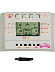 y-solar pantalla lcd 10a controlador de carga solar detector magnético 24v 12v m10