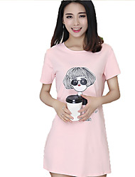 Real shot summer 2017 short-sleeved t-shirt long paragraph personalized glasses girl skirt printed loose compassionate tide