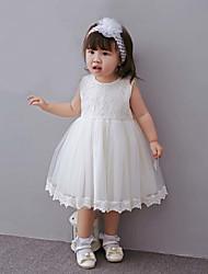 Baby Kleid-Party/Cocktail einfarbig Polyester Ganzjährig Rosa Rot Weiß