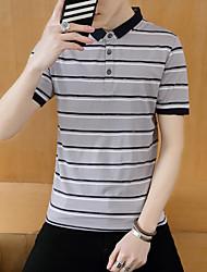 2017 Sommer Männer&# 39; s Revers Kurzarm-T-Shirt Männer Kurzhülse Baumwollpolohemd koreanischen Männer lele