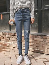 unterzeichnen fringe Persönlichkeit Seitenreinigung schnitt Jeans weibliche Füße neun Punkte dünne Bleistifthosen NETT