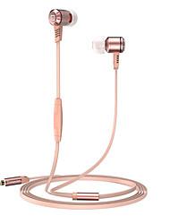 2017 New Langsdom M410 Metal Heavy bass headphones with mircophone Thread line stereo music earphone for iphone samsung huawei xiaomi