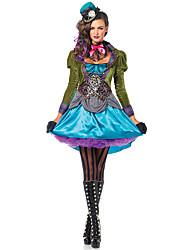 Alice's Adventures In Wonderland Mad Hatter Costume Adult Sexy Mad Hatter Halloween Costume Women Magician Adult Costume Dress