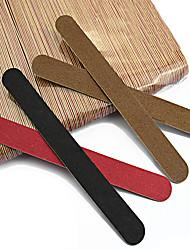 50pcs Nail File Manicure Pedicure Buffer Sanding Files Wood Crescent Sandpaper Grit Nail Art Tool Random Color