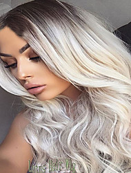Synthetic Ombre Grey Wig Long Wavy African American Wig For Black Women Heat Resistant Hair Cheap Cosplay Wig