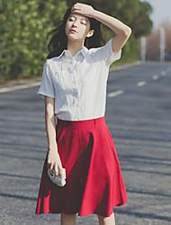 определить реальный выстрел! 2017 весной и летом новый женский литературный вентилятор Xuesheng рубашки частей установлены юбки