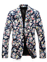 HOT S-5XL Plus Size Hight Quality Men's Casual/Daily Party/Cocktail Vintage Simple Spring Fall SlazerSolid Shirt Collar Long Sleeve Regular Suit