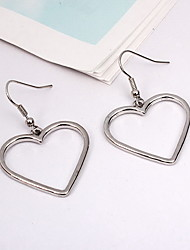 Drop Earrings Earrings Set Jewelry Silver Plated Alloy Heart Silver Jewelry Daily Casual 1 pair