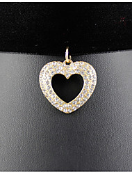 Women's Pendant Necklaces Jewelry Alloy Simulated Diamond Jewelry Pendant Love Fashion Euramerican Gold JewelryParty Special Occasion