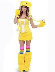 Costumes de Cosplay Animal Fête / Célébration Déguisement d'Halloween Jaune Couleur Pleine Carnaval Féminin Coton
