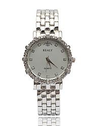 Bracelet de Montre Montre Diamant Simulation Quartz Alliage Bande Argent Doré Or Rose Or Argent Or Rose