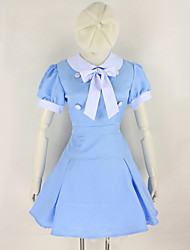 Cosplay Costumes Student/School Uniform Festival/Holiday Halloween Costumes Blue Solid Carnival Female Cotton