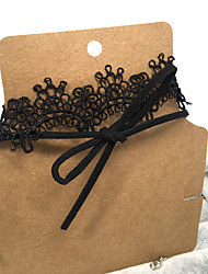 Double Layer Black Lace Necklace Non Stone / Choker Necklaces Jewelry Wedding Party Special Occasion Halloween Birthday