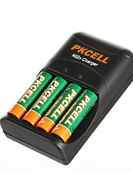 pkcell 2500mwh 8186 AA батареи 1.6V никель цинка 300mAh 4 шт