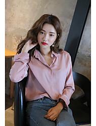 2017 spring new silk satin shirt stylenanda