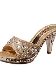 The new diamond high-heeled sandals women fine with high heels sandals fashion women's shoes Rose Gold