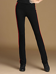 Latin Dance Bottoms Women's Training Modal Color Block 1 Piece Natural Pants