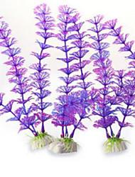 Aquarium Decoration Waterplant Non-toxic & Tasteless Plastic Blue Purple Orange