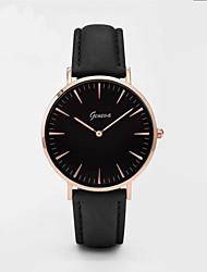 Women's Fashion Watch Quartz Leather Band Charm Casual Black White Brown Grey Pink Brand