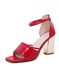Women's Heels Spring Summer Fall Comfort PU Party & Evening Dress Chunky Heel Multi-color
