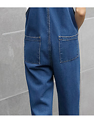 Spring and autumn loose suspenders jeans