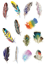 1.3*2.7in Cover scratches stickers Colorful feathers stickers for car (12pcs)03
