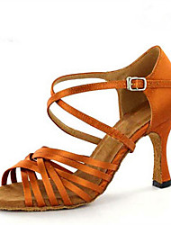 Maßfertigung-Maßgefertigter Absatz-Satin-Latin Jazz Salsa Swing Schuhe-Damen