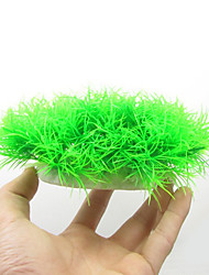 Оформление аквариума Водное растение Искусственная Пластик Зеленый