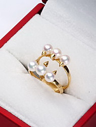 Ring Wedding Special Occasion Jewelry Others Pearl Ring 1pc,One Size White Yellow Gold