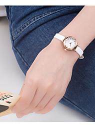 Mulheres Relógio Esportivo Quartzo / Couro Banda Preta Branco Vermelho Rosa