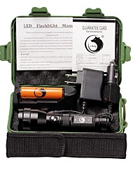 UKing ZQ-X995B#-EU Aluminum CREEXPE 1500LM 3Modes Flashlight Torch Kit with 1*18650 Battery and Chargers
