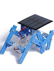 Brinquedos Para meninos Brinquedos de Descoberta Brinquedos a Energia Solar Robô Metal Plástico Azul