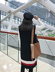 Zeichen Herbst und Winter 2016 koreanische Einkaufs koreanische lose literarisch Mädchen langen Absatz Pullover Kleid Pullover