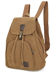 Unisex Bags All Seasons Canvas Backpack with Metallic for Shopping Casual Sports Formal Outdoor Office & Career Blue Black Coffee Earth