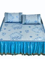 Floreale Set Copripiumino 3 pezzi Tessuto sintetico A fantasia Stampa Tessuto sintetico Alla francese 1 piazza e mezzoCopri cuscino (2