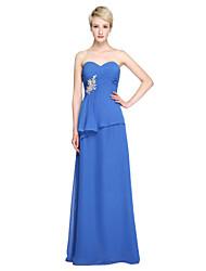 LAN TING BRIDE Floor-length Sweetheart Bridesmaid Dress - Elegant Sleeveless Chiffon