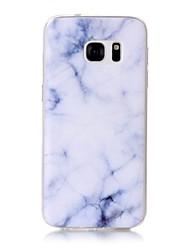 Para Estampada Capinha Capa Traseira Capinha Mármore Macia TPU para Samsung S7 edge S7