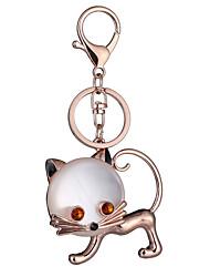 Key Chain Key Chain Cat Chic & Modern Creative Leisure Hobby Silver Metal