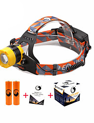 U'King ZQ-X8001Y# CREE T6 2000LM LED Headlamps Kits 3 Mode Adjustable Focus Zoomable