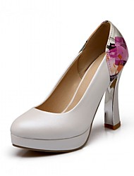 Women's Heels Fall Winter Comfort Novelty Synthetic Patent Leather LeatheretteWedding Office & Career Party & Evening Dress