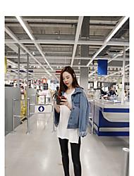 2017 весна корейский ярдов жира мм микки печать рыхлый случайные джинсовую куртку женский прилив