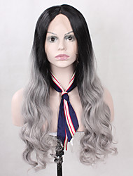Hot Selling T1B/Grey Color Synthetic Lace Front Wigs Body Wave Heat Resistant Synthetic Fiber Hair Lace Wigs For Fashion Woman