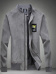 Club Simple Jacket,Solid Stand Long Sleeve Winter Hand wash Dry flat Cotton Regular