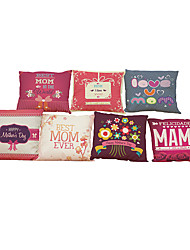 Set of 7 Mother 's Day theme pattern   Linen Pillowcase Sofa Home Decor Cushion Cover