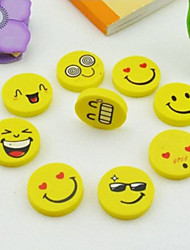 Lovely Funny Smile Face Kid Cute Eraser Rubber Novelty School Supplies Office Accessories Gifts Random Pattern