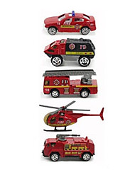 Fire Engine Vehicle Vehicle Playsets Car Toys 1:64 Metal Plastic Rainbow Model & Building Toy